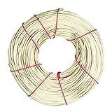 Rayher Hobby 6502900 Peddigschiene, natur, 4 mm, Rolle 125g (ca. 75 m), Peddigrohr / Flechtrohr / Flechtmaterial